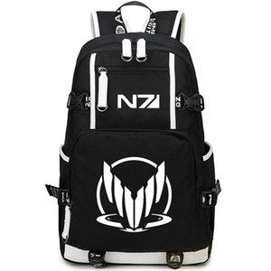 Mass Effect backpack Eco friendly daypack ME1 schoolbag N7 Game rucksack Sport school bag Outdoor day pack