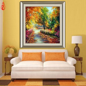 Promoção DIY 5D diamante bordado bonito O bosque cesta diamante redondo Pintura Pintura Cross Stitch Kits Mosaic Home Decor
