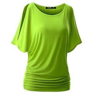 Gros-Loose Women Bat manches courtes T-shirt Slim Casual Hauts été O-manches courtes T-shirts S-XXL 7 couleurs Tees nouvelle vente