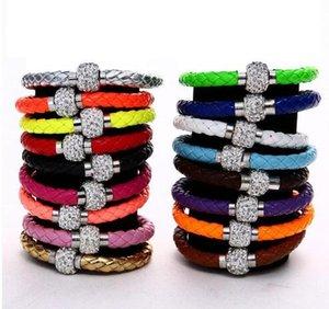 Shambhala Pulseira de couro PU fivela moda personalidade magnética pulseira de tecido decorativo