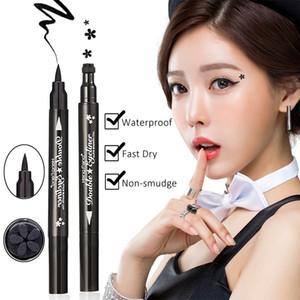 Heng Fang Nette Dual Star Stempel Eyeliner Fast Dry Glatte Wasserdichte Anti-Fleck Schwarz Make-Up Eyeliner Pen