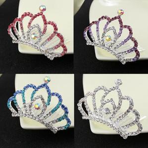 Женщины девушки свадебные волосы Корона Кристалл Корона диадемы Принцесса горный хрусталь диадемы Корона гребни волос подарок на День Рождения для детей девочек