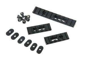 Panel de riel de aleación de aluminio de 20 mm Metal Picatinny Scope Rail Set para cazar negro / arena