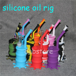 New Silicone Water Pipe silicone oil rig Glass Bongs Oil Rigs Glass Bong 8.26