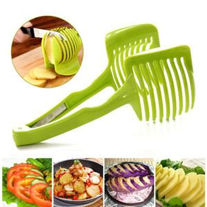 Multi-Funzionale Lemon Tomato Slicer Clamp Hand-held Lemon Onion Pomodoro Frutta Affettatrice Chopper Cutter Cibo Clip Cucina