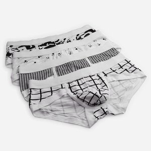 Hot-selling 2017 New Arrived Style Men's underwear Briefs footprint Grid Personality Pattern sexy male Style Modal Cotton High quality
