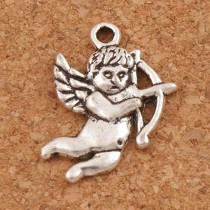 Angelo di Cupido Charms Ciondoli 100 pz / lotto Argento Antico risultati dei monili Componenti FAI DA TE L107 22.3x15.8mm