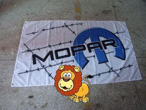 100% полиэфир флага автомобиля Мопар , Мопар баннер, размер футов 90x150cm полиэстер 100% 90*150см