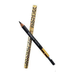 양질 눈썹 브러시 빗 금속 호화로운 아이 라이너 여성 눈 아름다움 펜으로 패션 레오파드 아이 라이너 연필