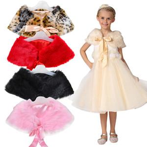 Bambini Faux Fur Cardigan Scialle Ragazze Inverno Bolero Giacche Cappotto Kids Wedding Cape For Girls Abbigliamento Kids Leopard Capispalla