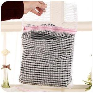 3 TAGLIE / SET New Zippered Pieghevole Nylon Laundry Bag Bra Calze Biancheria Intima Abbigliamento Lavatrice Protezione Net Mesh Bags Spedizione Gratuita