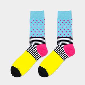 the latest design popular men's socks 10 PAIRS STRIPED SOCKS SUIT FASHION DESIGNER COLOURED COTTON 7-12