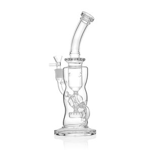 Glass bongs 11 inch recyler bong water bongs 14 mm female bong oil rig clear Color water pipe