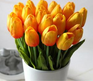 Tulip Artificielle Fleurs En Gros Real Touch PU Bouquet Artificiel Fleurs Pour La Maison Cadeau De Mariage Fleurs Décoratives ..