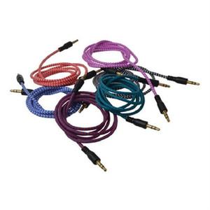 Плетеный аудио вспомогательный кабель 1 м 3.5 мм волна AUX расширение мужчина к мужчине стерео автомобиль нейлон шнур разъем для смарт-телефона динамик для наушников
