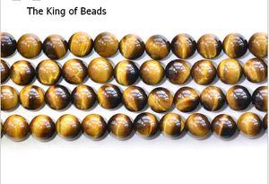 Olho de tigre Natural Rodada Beads para Pulseira 5A Grau Tigreye Semi-acabados Corda Frisado Pulseira tamanho 3mm-18mm