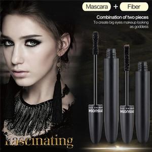 FEIYISUOSHI Cosmetics Mascara Eyes Fiber Lashes Mascara New Brand 3D FiberLashes Super Mascara 2pcs set Gel + Fiber 1211001