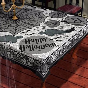 Black Lace tablecloth Spider web ghost pumpkin Table clothes Halloween party decoration haunted Shooting props home decoration
