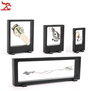 Ücretsiz Kargo 4 Adet Siyah Şeffaf Süspansiyon Pencere Durumda Çok Fonksiyonlu Takı Küpe Bilezik Boncuk Kolye Yüzük PET Ekran Standı
