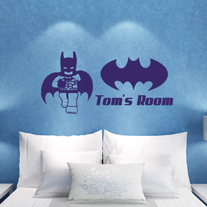 Lego Superhero Batman Kinder Schlafzimmer Wandaufkleber Wandkunst Aufkleber DIY
