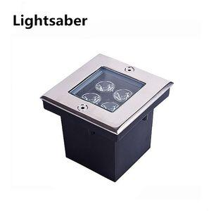 1W 4W 5W LED Открытый сад подземный квадратный Погребенный свет прожектор водонепроницаемый AC85-265V бар / сцена / сад напольное наружное освещение