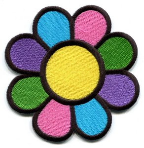 WholeSale Custom Pretty Design Flower power boho hippie retro liebe frieden applique eisen auf patch versandkostenfrei