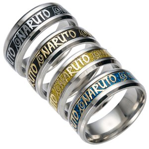 316 Stainless Steel Naruto Ring Finger ring Tail Rings Bands for Women Men Anime jewelry Gift
