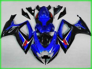 Kit corpo carena iniezione per 2006 2007 SUZUKI GSXR600 750 GSXR 600 GSXR 750 K6 06 07 ABS nero blu Set carenature MN28