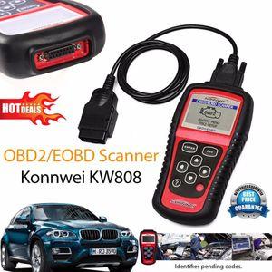 Venda quente OBD2 Scanner KW808 Leitor de Código de Diagnóstico Do Carro CAN Ferramenta de Redefinição Do Motor Auto Scanner