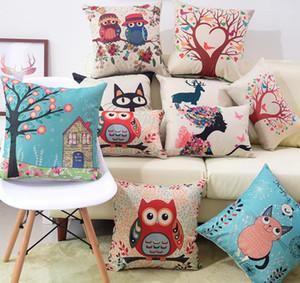 Almofada do sofá, fronha, enfeites de cama, decorações de Natal, A árvore do sol, o Sr. coruja, casal coruja, árvore de amor, série dos desenhos animados e assim por diante