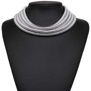 5 couleurs nouveau mode disign collier collier collier Kim Kardashian collier pendentif déclaration choker maxi collier de bijoux pour femmes