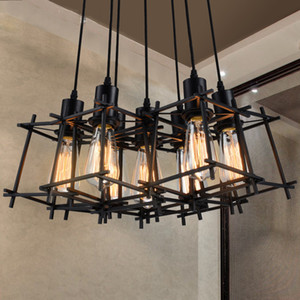 Vintage Hanging Pendant Lights Fixture Black Metal Pendant Lamps Home Illuminazione indoor American Industrial Retro Droplight European Luminaire