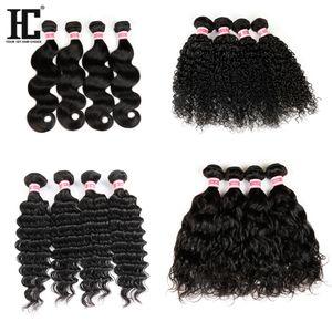Extensões de cabelo humano brasileiro / peruano 100% não transformados cabelo remy virgem 100g / pacotes cabelo grosso preço de atacado HC produtos
