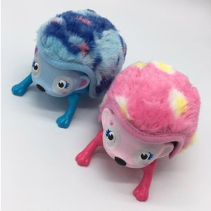 wholesale lovely Interactive Hedgehog Pet With Lights Sounds And Sensors By Light-up Walk Roll Headstand Kids Toys OOA2934
