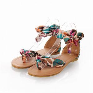 Wholesale Cheap Bohemia Style New Summer Women Sandals Shoes Cross Strap Flat Sandal