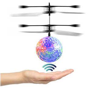 Enfant et Garçon Jouets RC Flying Ball Infrarouge Induction Ball Helicopter Avec Rainbow LED Lights Remote Control Pour Enfants Flying Toys HH-T56