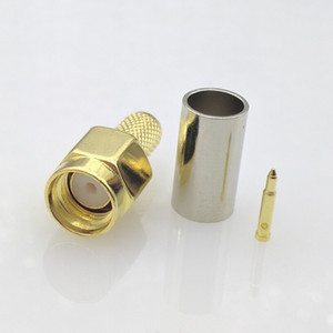 Shipping Free SMA Male connector SMA male Plug LMR195 RG-400 RG-142 50-3 cable RF SMA coaxial connector 10pcs / lot
