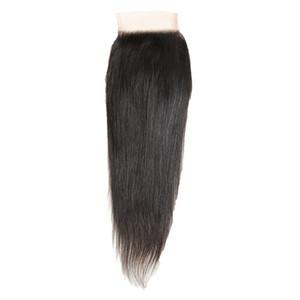 Perruques de cheveux de dentelle de mode 4 * 4 rideau perruque tout droit long cheveux noirs