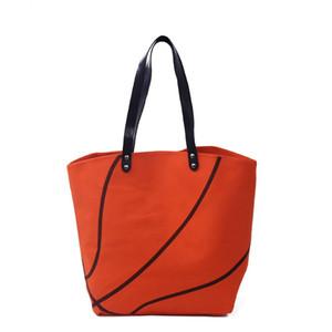 Basketball Sac à main pour femme avec poignée en similicuir PU et fermeture à glissière Sport Tote Bag DOM295
