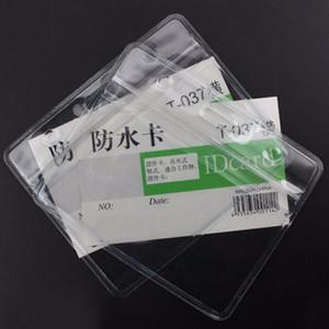Titulaire de badge de carte d'identité transparente de haute qualité de style horizontal transparent en plastique souple transparent outil de bureau à l'école