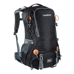TOMSHOO 50L con la lluvia cubierta de la mochila de viaje que acampa Senderismo hombres mujeres mochila de la computadora deportes al aire libre escalada mochila