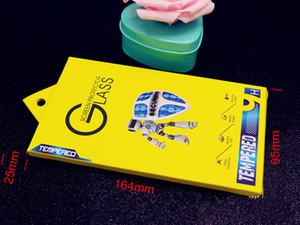300pcs Emballage Universel Nouveau Style Robort Design Boîte de Papier Dur avec Triangle Hanger pour Modèle de Téléphone En Verre Trempé avec livraison gratuite