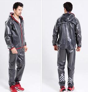 Moda poliestere impermeabile impermeabile TPU pioggia indossare cappotto da pioggia regalo bicicletta vestiti pantaloni Set per le donne degli uomini
