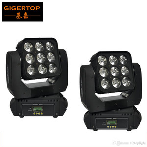 Freeshipping 2pcs / lot ha condotto la luce capa commovente Matrix 9 * 10W 4in1 Led Moving Head fascio Cree RGBW Moving Head Light di controllo DMX
