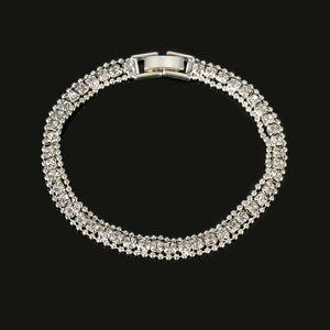 Neue Art und Weise Luxuxkristallglas Schmuck Armband Gliederkette für Dame Girl Strass Armband Elegante Schmuck Hochzeit Frauen