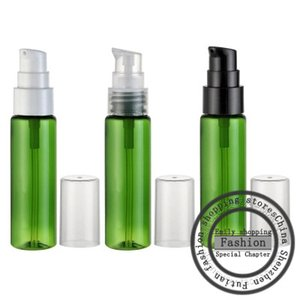 حار بيع ، 50pcs ، 30ML الأخضر منقار مسطح الكتف زجاجة (مضخة مسحوق) ، التعبئة والتغليف ومستحضرات التجميل ، وزجاجة رذاذ عطر