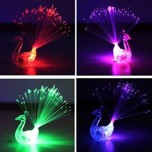 La luz de la lámpara de pavo real, color, anillo, dedo, cola, fibra, lámpara, luminoso, juguete, puesto, niños, animar, barra