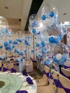 Novità Decorazioni di nozze Palloncini Palloncini trasparenti Palloncini fioretti da 18 pollici Decorazioni per la casa Forniture per feste di alta qualità