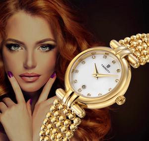BRW yepyeni inci şekil kayış elmas kabuk yüz TWINCITY kadın kuvars saatler kol saati otomatik tarih spor eğlence saatler