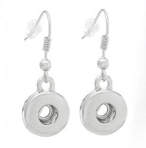 Kadınlar Gümüş Dangle Charm Küpe Noel Hediye Noosa Zencefil çekin Küpe Düğme 18mm Değiştirilebilir Moda Takı